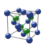 Zinc blende crystallographic structure model rendered with Ball & Stick viewer application